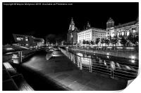 Liverpool at night, Print