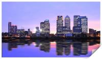 Docklands Canary Wharf sunset, Print