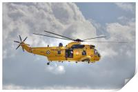 RAF Sea King Helicopter, Print