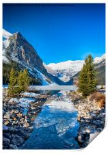 A Stream to the Frozen Lake Louise, Print