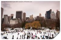 Skaters in Central Park NYC, Print