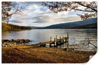 Old Wooden Jetty on Loch Arkaig, Print