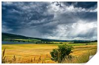 Storm Clouds and Sunbeams, Print