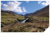 Glen Roy near Spean Bridge, Scotland, Print