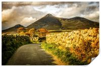 Autumn in the Mournes, Print