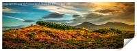 Evening over the Mourne Mountains, Print