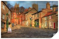 Steep Street Lincoln 2013, Print