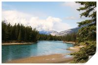 View from Jasper National Park., Print