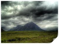 Stormy Clouds Over Glen Coe, Print