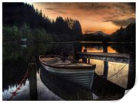 Golden Sunset over Loch Ard, Print