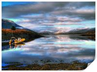 Quiet Morning On Loch Leven, Print