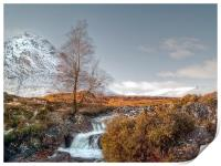 Snow On The Buachaille, Print