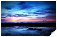 Sunset Over Troon Beach, Print