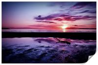 Troon Beach, Ripples, Print