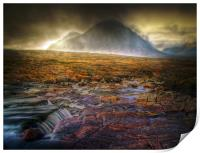Golden Skies Of Glen Coe, Print
