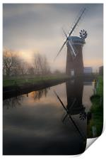 Reflecting on Horsey Mill, Print