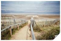 Slope to Holkham Beach, Print