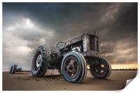 Tractor at Overstrand, Print