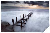 Grey Dawn at Overstrand, Print