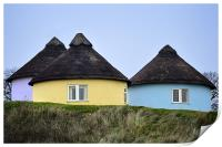 Thatched cottages, Print