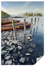 Boats and Poles on Derwent Water, Print