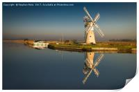Light on Thurne Mill , Print