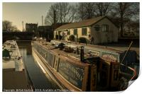 Golden Barges of Stratford , Print