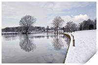 Winter reflections in Coltishall, Print