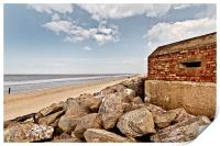 Brancaster Defences Old and New, Print