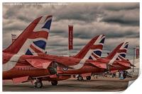 RIAT 2015 - Red Arrows on the ground, Print