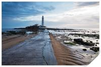 Saint Marys Lighthouse at Whitley Bay, Print