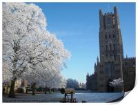 Ely Cathedral in the Snow, Print
