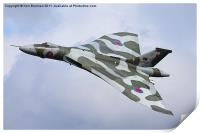 Avro Vulcan bomber XH558 at Abingdon Air Show, Print