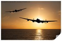 Lancaster Bombers at Sunset, Print