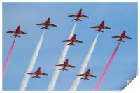 Red Arrows formation, Print