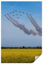 Red Arrows and Eagle Squadron, Print