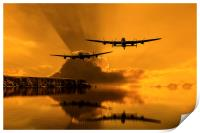 Lancasters and Sun Rays, Print