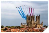 Red Arrows over Lincoln Cathedral, Print