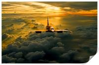 Concorde Supersonic Sunset, Print