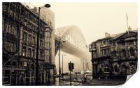 Sepia Fog on the Tyne, Print