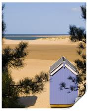 The Other Side, Beach Hut & View of Wells Beach, Print