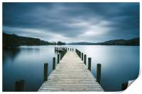 Jetty on Coniston Water., Print