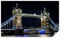 Tower Bridge at night, Print