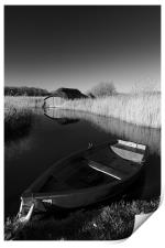 Hickling Rowing Boat, Print