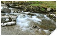 The East Lyn River at Lynmouth, North Devon, Print
