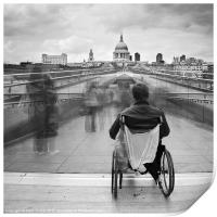 Invisible ..... Millennium Bridge, London, Print
