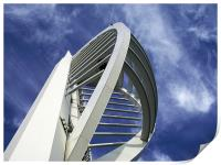 Spinnaker Tower - Close side view, Print