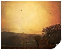 Red sky in the morning, Print