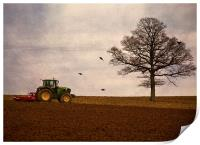 ploughing the field, Print