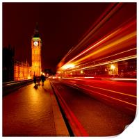 London Bus to Big Ben, Print